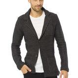 Мужской пиджак серый LC Waikiki / Лс Вайкики с латками и карманами