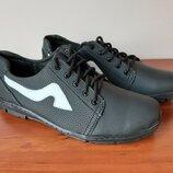 Мужские туфли кроссовки черные