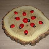 1.50 грн Заготовка деревянная Божья коровка 20 мм