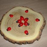 Заготовка деревянная Божья коровка 15 мм