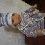 шапка шляпка для пупса куклы