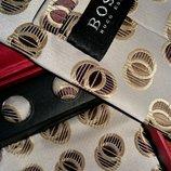 Эксклюзивный набор галстук запонки платок от бренда Hugo Boss Оригинал