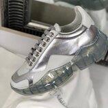 Женские кожаные трендовые кроссовки Jimmy Choo