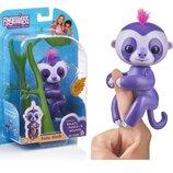 Интерактивная игрушка Fingerlings ручной ленивец Мардж Baby Sloth Marge Фингерлингс фиолетовый Wowee