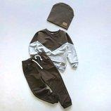 Трикотажный спортивный костюм на мальчика и для девочки из двунитки - легкий на весну и лето