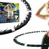 Массажный обруч Хула-Хуп Massaging Hoop Exerciser Professional с магнитами