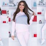 Спортивный костюм двунитка розовый синий бордо