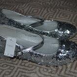 Новые туфли девочке Next 23 см 36 размер