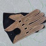 Стильные шоферские перчатки, натуральная кожа