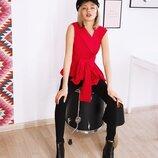 Красная ассиметричная рубашка
