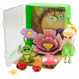 Disney animators мини аниматоры Фея Динь Динь в чемоданчике Tinker Bell collection mini doll play se