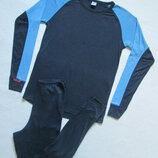 Суперовый спортивный брендовый термо костюм с утепленными участками TCM.