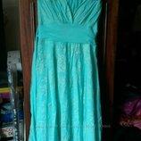 Нарядное платье для девочки на рост 146 - 158