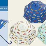 Зонтик 3 цвета с машинками, матовая клеенка, купольная форма d15916 зонт