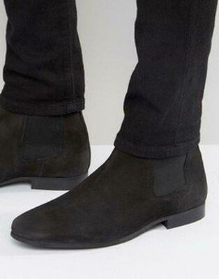 Суперлёгкие замшевые ботинки деми с подошвой Vibram Италия
