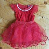 Девочка сарафан и плаття червона 12-18мес