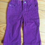 Девочка штані джинс бордо 6-9мес