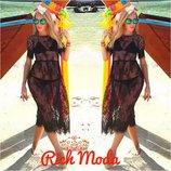 Пляжное кружевное платье туника пляжная
