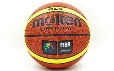 Мяч баскетбольный Molten GL6 4254 размер 6 PU, бутил