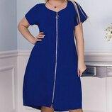 Летнее платье-сарафан, большого размера