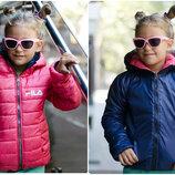 Куртка двухсторонняя для мальчика и девочки с капюшоном на змейке 122-152р