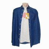 Мужской комплект джинсовая рубашка футболка Piazza Italia. Разные цвета. Есть большие размеры.