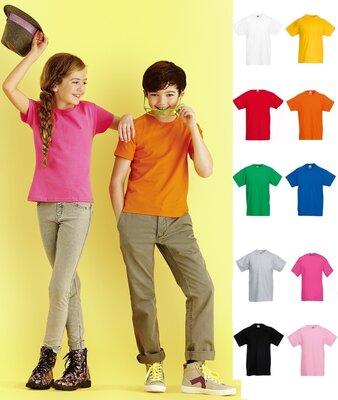Детская футболка Приталенная мягкая Sofspun Fruit of Loom 100% Хлопок