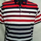 Футболка-Поло мужская красно-сине-белая полоска OT-Thomas XL,,4XL
