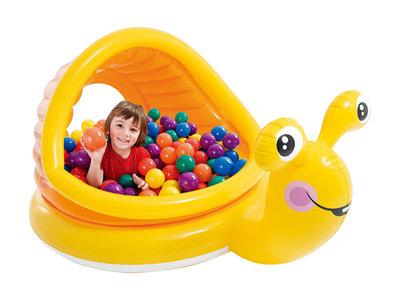 57124 бассейн надувной с навесом интекс. улитка intex басейн дитячий