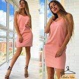 Красивое платье 42 - 44 три расцветки