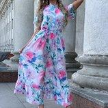 Красивое воздушное платье 42 - 46