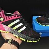 Кроссовки женские сетка Adidas Marathon black/pink