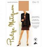 Фирменные итальянские тонкие колготы Philippe Matignon Oro 15 15den