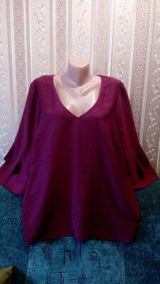 Очень красивая блуза George цвет марсала-бордо 20р.