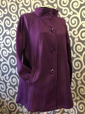 Тепленькое пальто -кардиган для пышненьких модниц . Франция