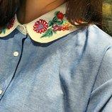 Рубашка из вышитым воротником