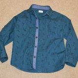 Рубашка трансформер с длинным рукавом F&F р. 5-6 лет 116 см.