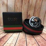 Кожаный ремень в стиле Gucci Гуччи