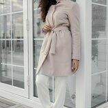 Весеннее пальто 42 - 44 бежевое