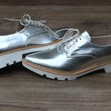 Туфли zara basic collection silver оригинал 41 размер