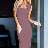 Силуэтное платье 4цв. р.S-XL