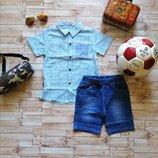 Хлопковый летний комплект-двойка для мальчика р. 3-8 лет. Венгрия