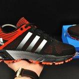 мужские кроссовки ADIDAS Fast Marathon 41-46р черные с красным