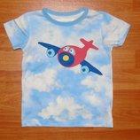 Стильная футболка Next,Некст с самолетом,2-3 года,98 Состояние новой Длина - 42 см, ширина - 32 см,