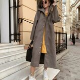 Длинное Пальто ,ткань пальтовая с добавлением шерсти 20%,размер см и лхл, длина 120 см