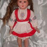 очень редкая антикварная кукла флиртушка Samco Италия оригинал клеймо 45 см реставрация