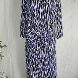Платье с красивым геометрическим притом большого размера damart