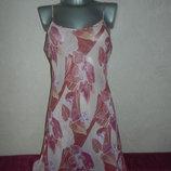 12/40/м H&M розовый шифоновый пеньюар в цветах,новый