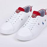 Кроссовки мокасины мужские кожаные Polo Ralph Lauren белые