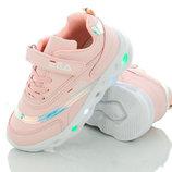 Детские светящиеся кроссовки на девочку с LED подсветкой 3206-3 Размеры 31- 36